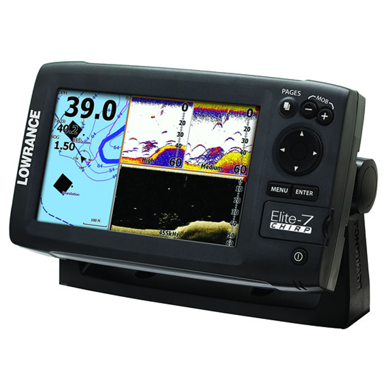 Lowrance Elite-7 CHIRP (50\200 и 455\800kHz)